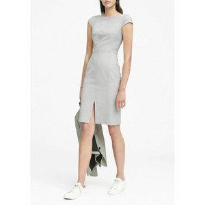 Banana Republic Heather Gray Bi-Stretch Dress 0P